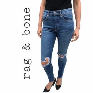 rag & bone- Distressed High Rise, Skinny Jeans